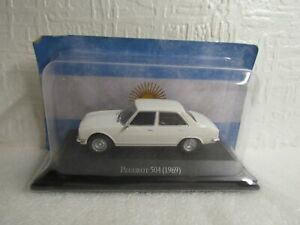 ALTAYA /IXO - 1969 PEUGEOT 504 - WHITE - 1/43 SCALE MODEL - ARGENTINA COLLECTION