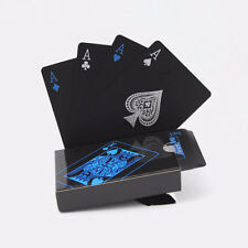 Creative Plastic PVC Waterproof Poker Magic Table Board Game Playing Cards Black