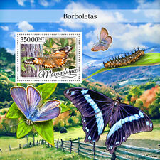 Mozambique 2016 MNH Butterflies 1v S/S Butterfly Insects Stamps