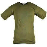 Genuine Italian army T-shirt Olive green cotton shirt short sleeves military NEW