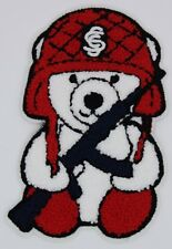 Chenille Patch: Fighter Bear (M383A)
