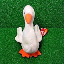 1996 Ty Beanie Baby Gracie The Swan Retired PVC Plush Bird - MWMT - Ships FREE