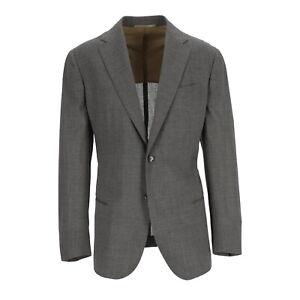Stile Latino Anzug Herren Wolle Grau Gr. 52 R8 (ehem. UVP € 2.398,00)