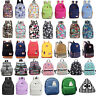 Womens Canvas Shoulder School Bag Travel Work Backpack Satchel Rucksack Handbag