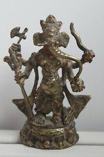 More details for 12th - 13th c. gilt bronze pala sena four arms buddhist ganesha found in tibet.