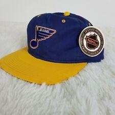ST LOUIS BLUES - Vtg 90s YA  NHL Hockey SnapBack Hat Cap NEW Vintage
