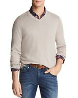 The Mens Store At Bloomingdale's V-Neck Cotton-Cashmere Sweater in Putty