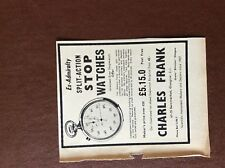 b1M ephemera 1959 advert stop watch charles frank watches glasgow