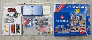 Siku World Set 5507 Werkstatt mit 4 Autos Anhänger und Motorrad