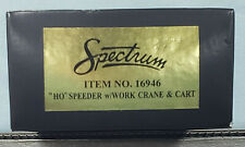 Bachmann #16946 - HO Scale - Speeder with Work Crane & Cart