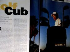 1991 Tiger Woods At 15 Years Old Article & Pics 9 x 11""