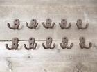 10 SMALL HOOKS COAT CAP HANGERS HALL TREE ENTRYWAY RUSTIC STORAGE LOT