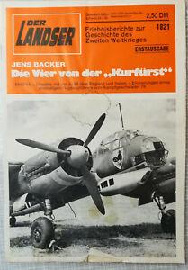 Der Landser 1821 Die Vier von der Kurfürst 1944 Kampfgeschwader KG 76 Italien