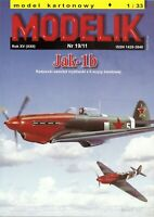 ORIGINAL PAPER-CARD MODEL KIT - Jak-1b