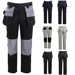 Mens Combat Cargo Pants Quality Knee Pad Pockets Hard Wearing Work Trousers