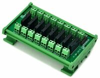 DIN Rail Mount DC5V 8 Channels DC-AC 2Amp G3MB-202P Solid State Relay SSR Module