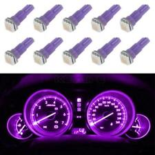 10X T5 74 SMD 5050 Instrument Gauge Dash Purple LED Bulbs light For Silverado