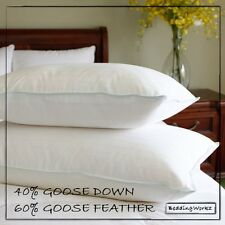 Goose feather & Down Pillows [2 Pack] **Includes Pillow Cases**