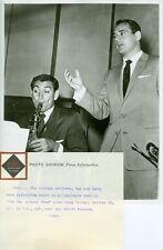 RAY ANTHONY LEROY ANTHONY DUET THE RAY ANTHONY SHOW ORIGINAL 1955 ABC TV PHOTO