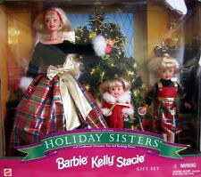 BARBIE HOLIDAY SISTERS GIFTSET SPECIAL EDITION 1998 W/ KELLY & STACIE