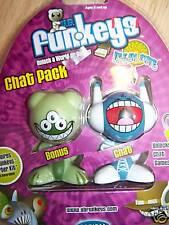 Chat Pack of 2 UB Funkeys Holler Boggle Computer Game Figures New