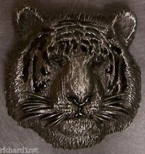 Pewter Belt Buckle animal Tiger Head silver tone NEW