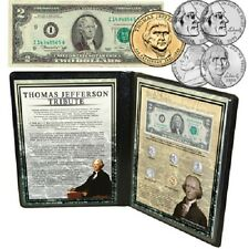 Thomas Jefferson Coin and Bank Note Tribute Collection in Collectors Folder