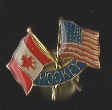 Pin's Hockey / Canada - Angleterre (drapeaux)