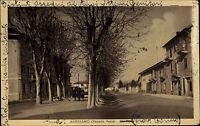 Altessano Italien s/w AK 1942 Veneria Reale Via Roma Straßenpartie Frauen Bäume