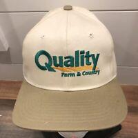 Vtg 90s Quality Farm & Country baseball hat cap snapback 100% cotton