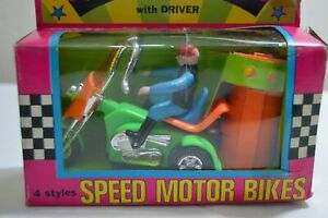 Vintage 70´s Battery Operated Remote Controlled Motorcycle Trike Chopper NIB Gr