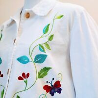 DENIM & CO. Embroidered Cotton Jacket please see photos