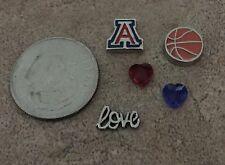 Arizona University Wildcats Basketball Football Fits Origami Owl Locket Charm