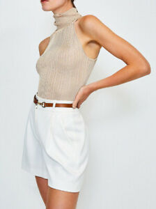 KAREN MILLEN Knitted Rib Roll Neck Sleeveless Top BNWT