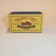 Matchbox Lesney 32 a Jaguar XK 120 empty Repro 32 B style Box