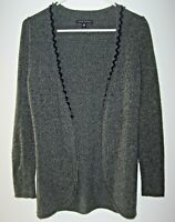 Banana Republic Gray Lambswool Sweater Womens XS Open Cardigan Touch Of Cashmere