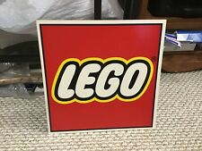 """USED DISPLAYED ONLY """"LEGO"""" SQUARE WALL SIGN"""