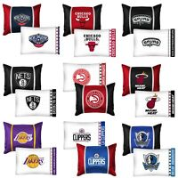 nEw 2pc NBA BASKETBALL PILLOWCASE PILLOW SHAM SET - Sports Team Logo Bedding