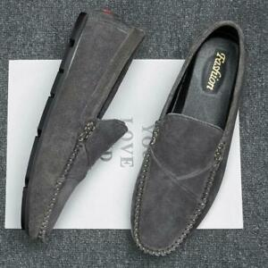 Men Casual Driving Moccasins Gomminos Slip On Loafers Suede Flats Shoes Outdoor
