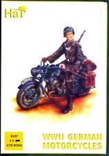 HaT Miniatures 1/72 GERMAN WWII MOTORCYCLE with RIDER Figure Set