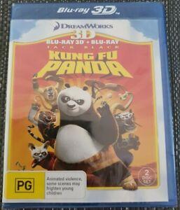 Kung Fu Panda 3D Blu-ray + Blu-ray (2 Disc Set) Brand New Sealed