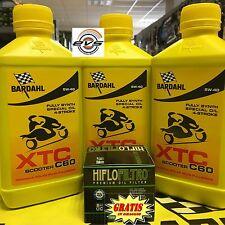 3 litri Olio Moto Scooter 4t Bardahl BARDHAL XTC C60 5w40 omaggio Grasso Spray