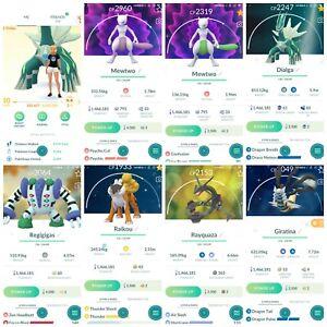 Pokémon Account Go level 40 | 93 Shiny(Rare)| 298 Legendary| 68,4*Pokemon
