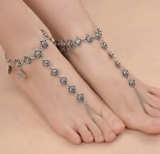 Women's Fashion Jewelry Silver Tribal Coin Tassel Anklet Ankle Bracelet 18-1