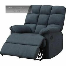 New Blue Microfiber Recliner Lazy Chair Wall Hugger Furniture Living Room Boy