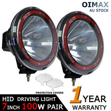 2PCS 100W 7INCH HID DRIVING LIGHT SPOTLIGHT SPOT BEAM OFFROAD REPLACE 75W