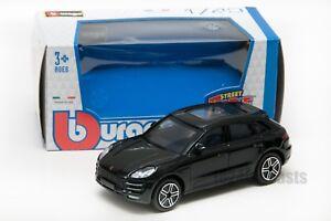 Porsche Macan in Black, Bburago 18-30299, scale 1:43, boy gift toy