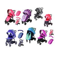 Baby Buggy Child Toddler Pram Stroller Pushchair Unisex + Rain Cover + Footmuff