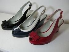 Sandali e scarpe nere formale zeppa per il mare da donna