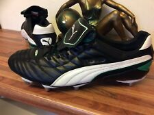 Rare Vintage Leather Puma King Duoflex Rugby Boots UK 13 EUR 48.5 US 14 UNPLAYED